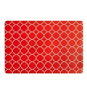 Panama Tile Soft Touch Placemat Tangerine