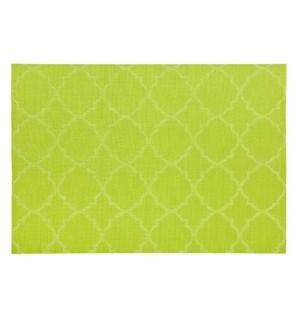 Panama Tile Vinyl Placemat Green