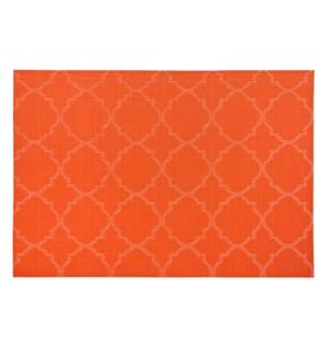 Panama Tile Vinyl Placemat Tangerine