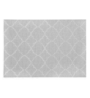 Panama Tile Vinyl Placemat Grey