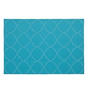 Panama Tile Vinyl Placemat Turquoise