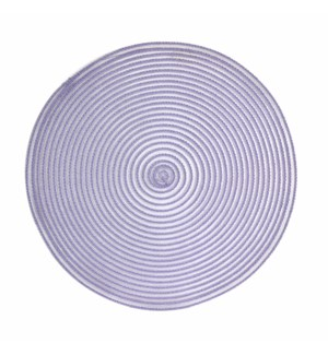Sheer Round Placemats Purple