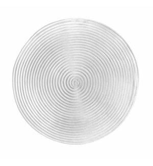 Sheer Round Placemats White