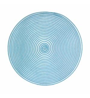 Sheer Round Placemats Aqua
