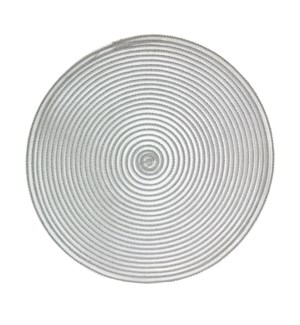 Sheer Round Placemats Grey