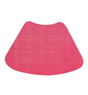 Trace Basketweave Wedge Placemat Raspberry
