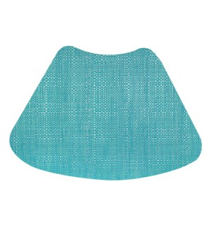 Trace Basketweave Wedge Placemat Aqua