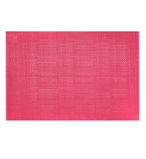 Trace Basketweave Placemat Raspberry