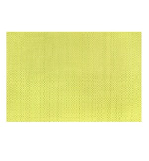 Trace Basketweave Placemat Yellow