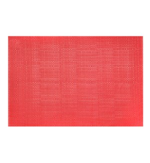 Trace Basketweave Placemat Red
