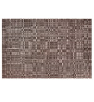 Trace Basketweave Placemat Chocolate