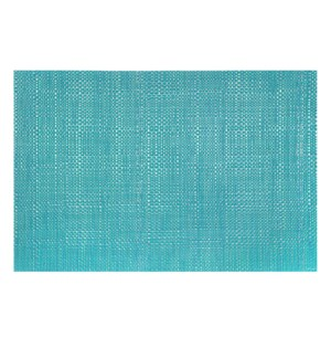 Trace Basketweave Placemat Aqua