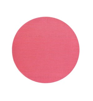 Trace Basketweave Round Placemat Raspberry