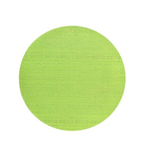 Trace Basketweave Round Placemat Green