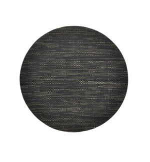 Trace Basketweave Round Placemat Black