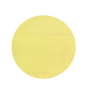 Trace Basketweave Round Placemat Yellow