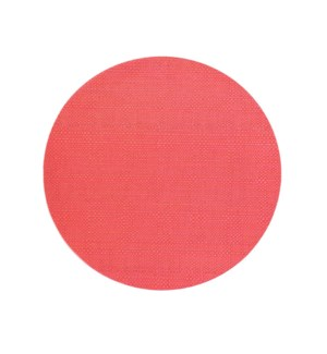 Trace Basketweave Round Placemat Red