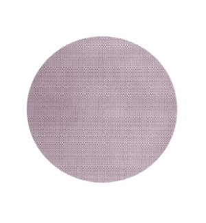 Trace Basketweave Round Placemat Violet