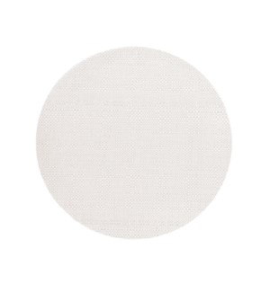 Trace Basketweave Round Placemat White