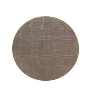 Trace Basketweave Round Placemat Chocolate