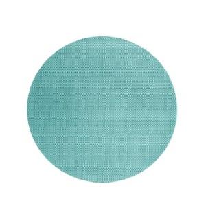 Trace Basketweave Round Placemat Aqua