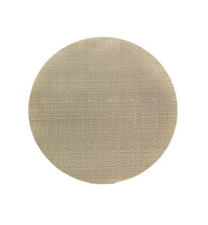 Trace Basketweave Round Placemat Linen