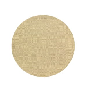 Trace Basketweave Round Placemat Oyster Grey