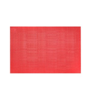 Trace Basketweave Table Runner Red