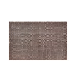 Trace Basketweave Table Runner Chocolate