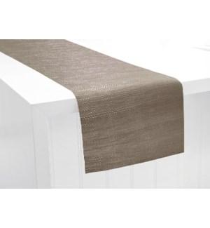 Trace Basketweave Table Runner Linen