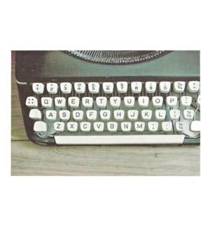 Typewriter Printed Vinyl Placemat Black