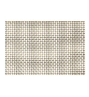 Wicker Vinyl Placemat Champagne