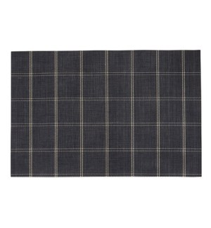 Window Pane Vinyl Placemat Black