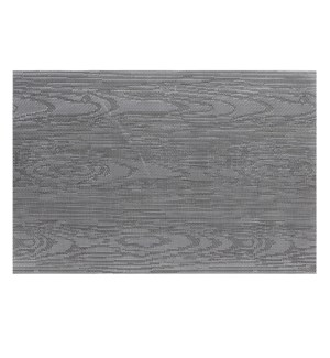 Wood Grain Vinyl Placemat Black