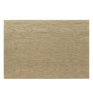 Wood Grain Vinyl Placemat Bronze