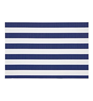 Cabana Stripe Vinyl Placemat Navy