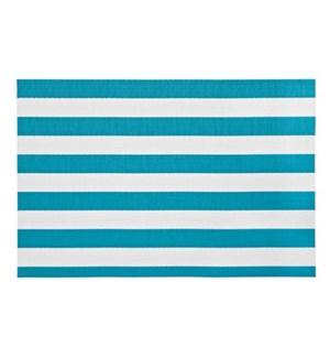 Cabana Stripe Vinyl Placemat Aqua