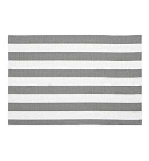 Cabana Stripe Vinyl Placemat Grey