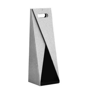 Diamond Folding Wine Carrier Silver