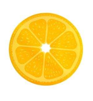 Citrus PVC Placemat Orange