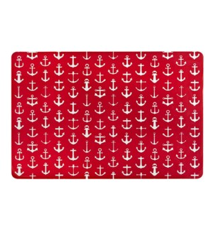 Anchor PVC Placemat Red