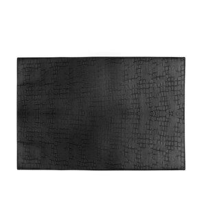 Fossil Table Luxe Reversible Placemat Black