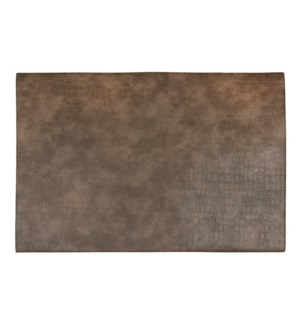 Fossil Table Luxe Reversible Placemat Taupe