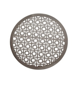 Squares Laser Cut PVC Placemat Gunmetal