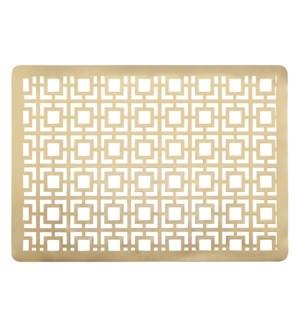Squares Laser Cut PVC Placemat Gold