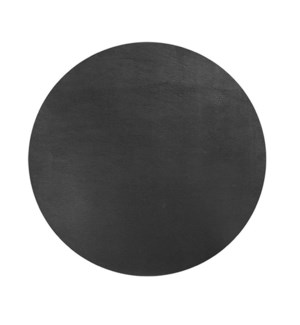 Studio Leather Round Placemat Black
