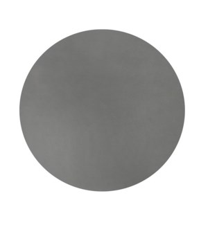 Studio Leather Round Placemat Charcoal