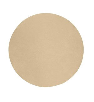 Studio Leather Round Placemat Champagne