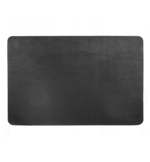 Studio Leather Rectangle Placemat  Black