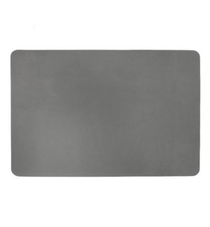 Studio Leather Rectangle Placemat Charcoal